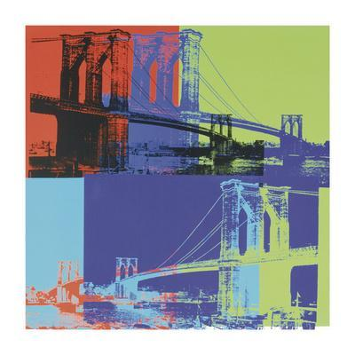 Brooklyn Bridge, c.1983 (Orange, Blue, Lime)