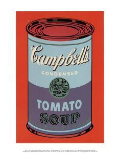 Campbell's Soup Can, 1965 (Blue and Purple) by Andy Warhol