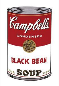 Campbell's Soup I: Black Bean, c.1968 by Andy Warhol