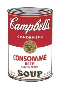 Campbell's Soup I: Consomme, 1968 by Andy Warhol
