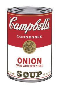 Campbell's Soup I: Onion, 1968 by Andy Warhol