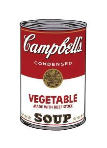 Campbell's Soup I: Vegetable, c.1968 by Andy Warhol