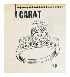 Carat, 1961 by Andy Warhol