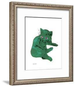 """Cat From """"25 Cats Named Sam and One Blue Pussy"""" , c. 1954 (Green Cat) by Andy Warhol"""