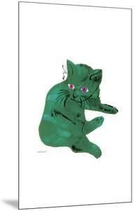 """Cat From """"25 Cats Named Sam and One Blue Pussy"""", c. 1954 (Green Cat) by Andy Warhol"""