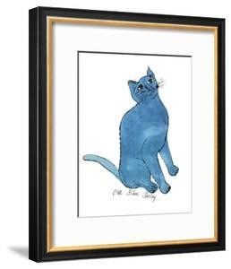 """Cat From """"25 Cats Named Sam and One Blue Pussy"""", c. 1954 (One Blue Pussy) by Andy Warhol"""