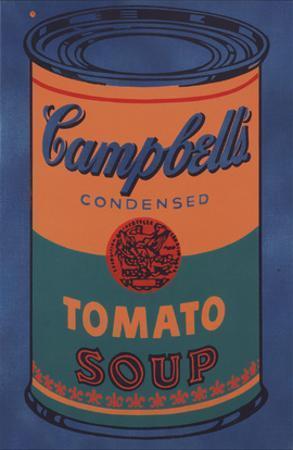 Colored Campbell's Soup Can, 1965 (blue & orange) by Andy Warhol