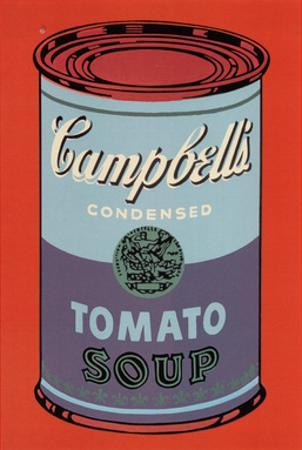 Colored Campbell's Soup Can, 1965 (blue & purple) by Andy Warhol