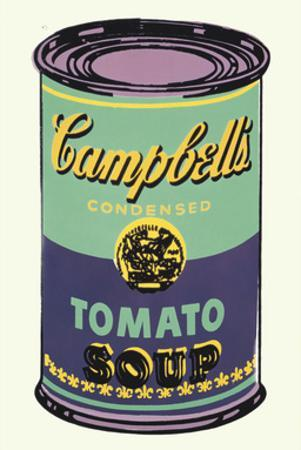 Colored Campbell's Soup Can, 1965 (green & purple) by Andy Warhol