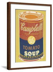 Colored Campbell's Soup Can, 1965 (yellow & blue) by Andy Warhol