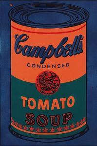 Colored Campbell's Soup Can, c.1965 Blue & Orange by Andy Warhol