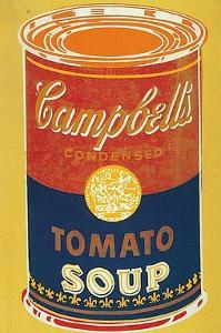 Colored Campbell's Soup Can, c.1965 (yellow & blue) by Andy Warhol