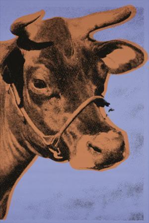 Cow, 1971 (purple & orange) by Andy Warhol