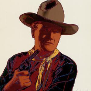 Cowboys and Indians: John Wayne 201/250, 1986 by Andy Warhol