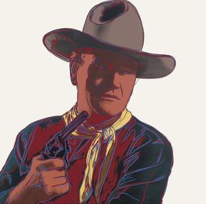Cowboys & Indians: John Wayne, 1986 by Andy Warhol