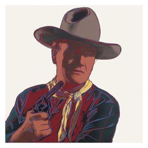 Cowboys & Indians: John Wayne, 1986 by Andy Warhol