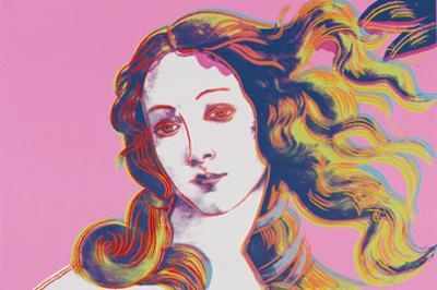 Details of Renaissance Paintings (Sandro Botticelli, Birth of Venus, 1482), 1984 (pink)