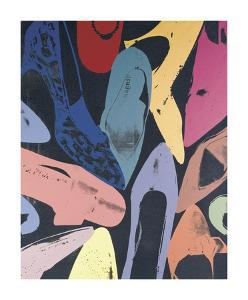 Diamond Dust Shoes, c.1980 (Lilac, Blue, Green) by Andy Warhol
