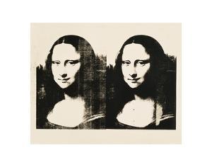 Double Mona Lisa, c.1963 by Andy Warhol