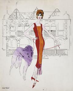 Female Fashion Figure, c. 1959 by Andy Warhol