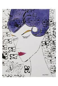 Female Head with Stamps, c. 1959 by Andy Warhol