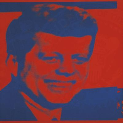Flash-November 22, 1963, 1968 (red & blue) by Andy Warhol