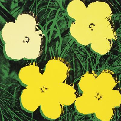 Flowers, 1970 (4 yellow) by Andy Warhol