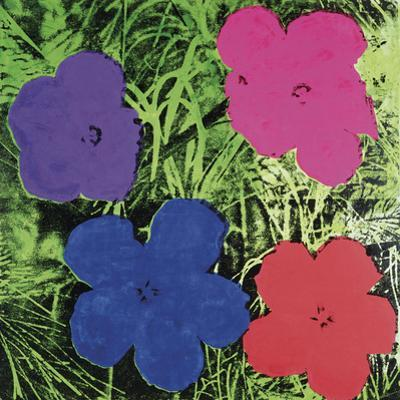 Flowers, C. 1964 (1 Purple, 1 Blue, 1 Pink, 1 Red)