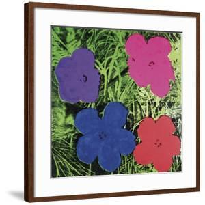 Flowers, C. 1964 (1 Purple, 1 Blue, 1 Pink, 1 Red) by Andy Warhol