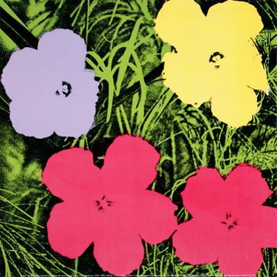 Flowers, c.1970 (1 purple, 1 yellow, 2 pink)