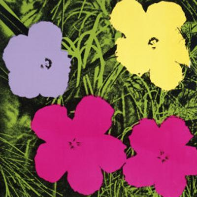 Flowers, c.1970 (1 Purple, c.1 Yellow, 2 Pink)