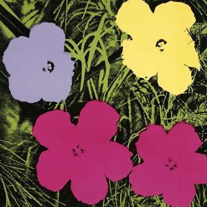 Flowers, c.1970 (1 Purple, c.1 Yellow, 2 Pink) by Andy Warhol