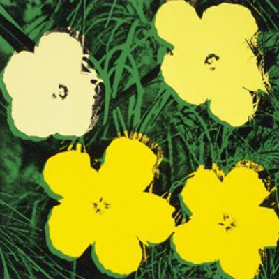 Flowers, c.1970 (4 yellow) by Andy Warhol