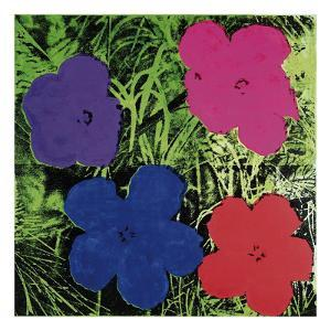 Flowers (Purple, Blue, Pink, Red) by Andy Warhol