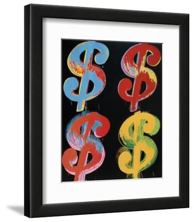 Four Dollar Signs, c.1982 (blue, red, orange, yellow) by Andy Warhol