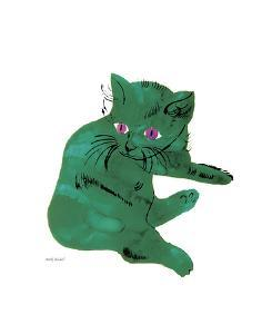 Green Cat, c.1956 by Andy Warhol