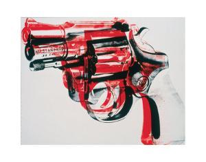 Gun, c.1981-82 (black and red on white) by Andy Warhol