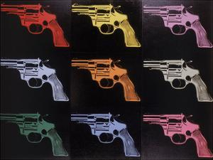 Gun, c. 1982 (many/rainbow) by Andy Warhol