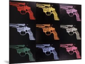 Gun, c. 1982 (many/rainbow) by Andy Warhol