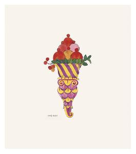 Ice Cream Dessert, c. 1959 (fancy red) by Andy Warhol