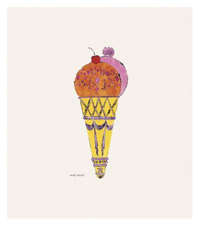 Ice Cream Dessert, c. 1959 (red and pink) by Andy Warhol