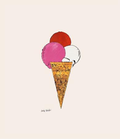Ice Cream Dessert, c. 1959 (red, pink, and white)