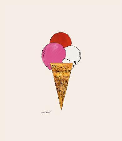 Ice Cream Dessert, c. 1959 (red, pink, and white) by Andy Warhol