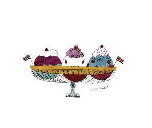 Ice Cream Dessert, c.1959 (Three Scoops) by Andy Warhol
