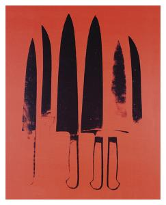 Knives, c. 1981-82 (Red) by Andy Warhol