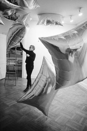 Silver Clouds Installation, Leo Castelli Gallery, NYC, 1966 by Andy Warhol/ Nat Finkelstein