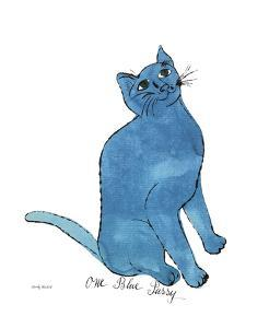 One Blue Pussy, c.1954 by Andy Warhol