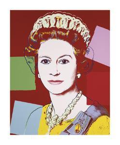 Reigning Queens: Queen Elizabeth II of the United Kingdom, c.1985 (Dark Outline) by Andy Warhol