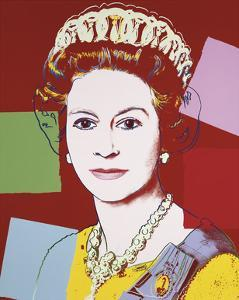 Reigning Queens: Queen Elizabeth II of the United Kingdom, c.1985 (Dark Outline) by Andy Warhol
