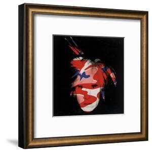 Self-Portrait, 1986 (Red, White And Blue Camo) by Andy Warhol